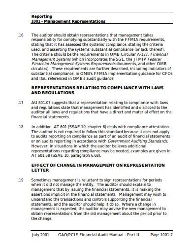 basic management representation letter template