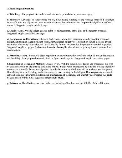 basic proposal outline