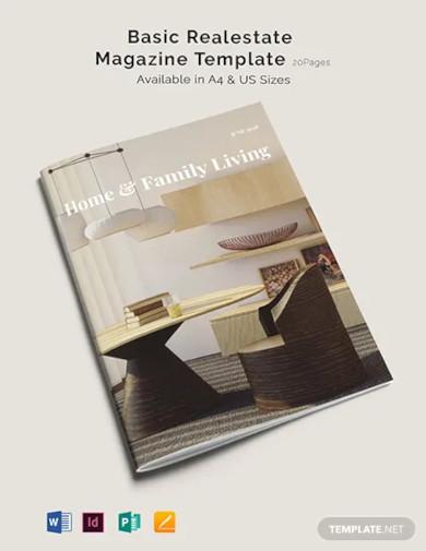 basic real estate magazine template