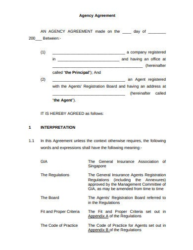 basic talent agency agreement template