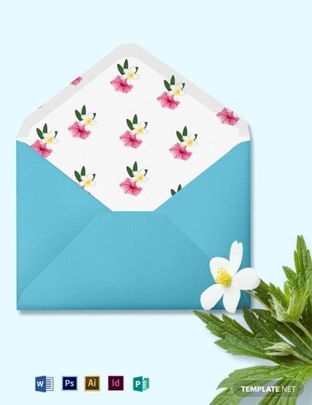 beach wedding envelope template
