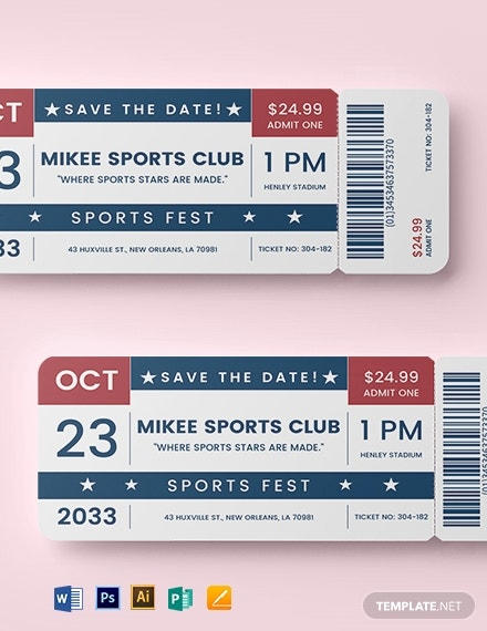 birthday movie ticket template