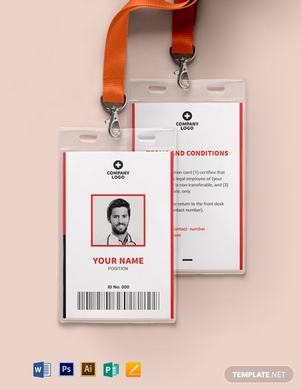 blank emergency id card