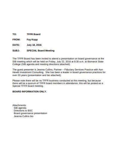 board meeting retirement bio letter template