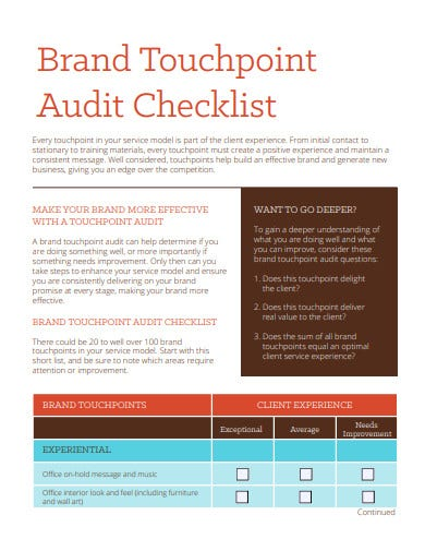 brand touchpoint audit checklist