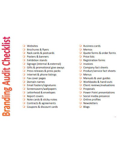 branding audit checklist