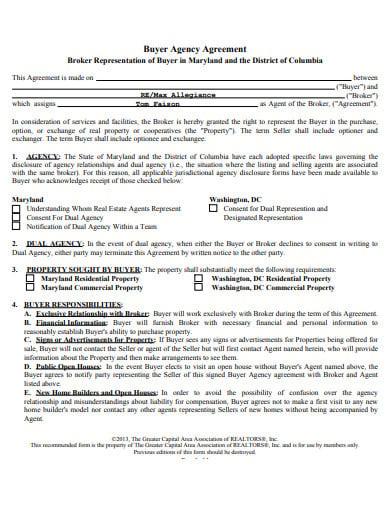 broker representation buyer agency agreement in pdf