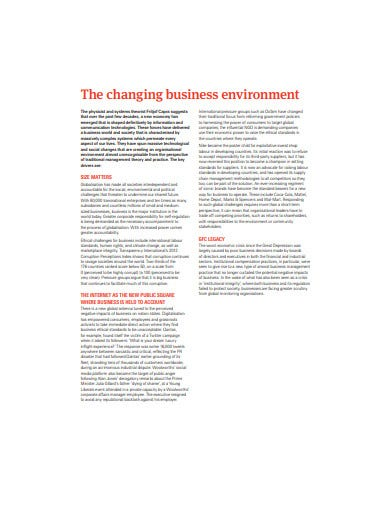 business ethics organisational risk