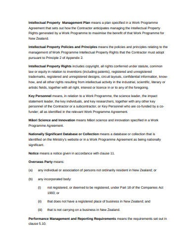 business innovation science investment contract template