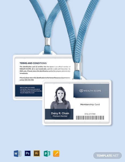business membership id card