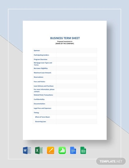 business term sheet template1