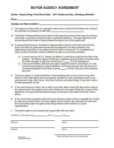 buyer agency agreement simple