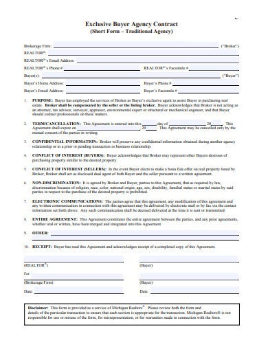 buyer agency contract template