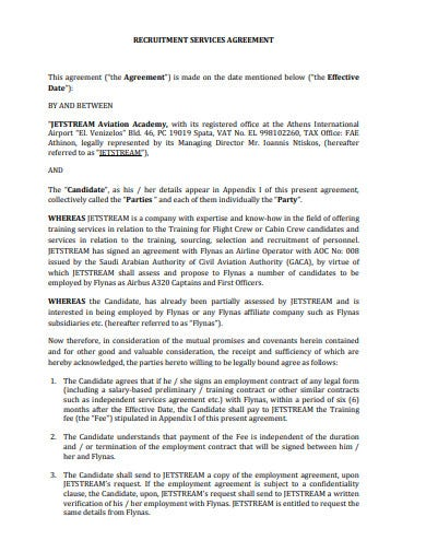 candidate recruitment services agreement template