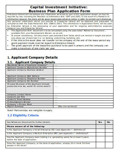 capital investment application form1