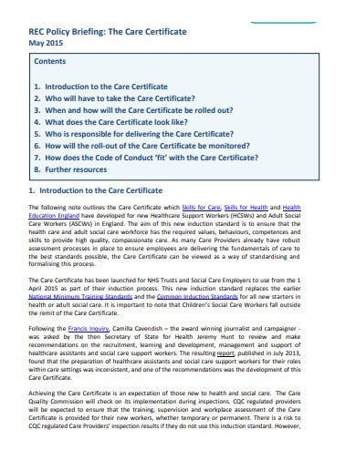 care certificate recruitment agency