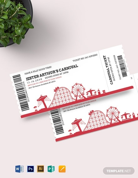 carnival event ticket template 21