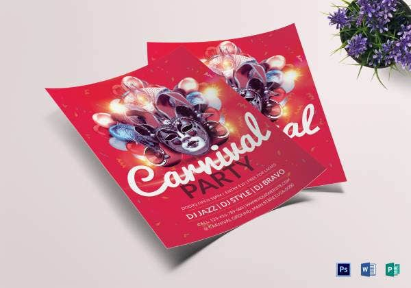 carnival party flyer template1 1