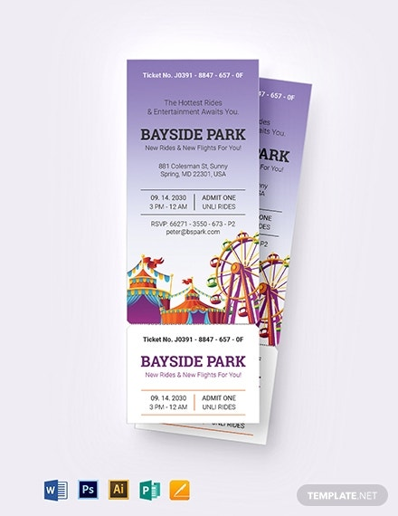 carnival party ticket invitation template 12