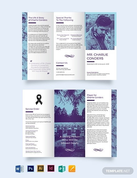 catholic funeral home tri fold brochure template