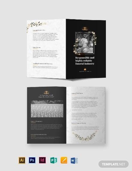 catholic funeral service bi fold brochure