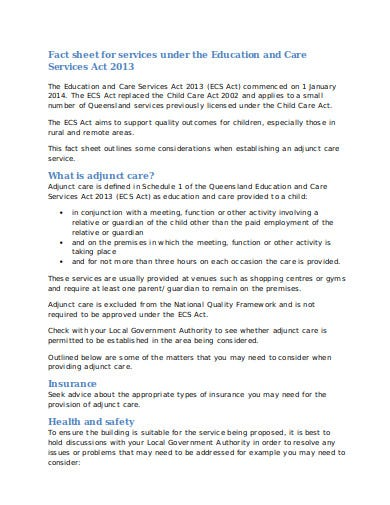 child care fact sheet in doc