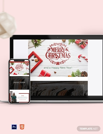 christmas email newsletter template 2