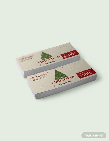 christmas gift coupon 1x