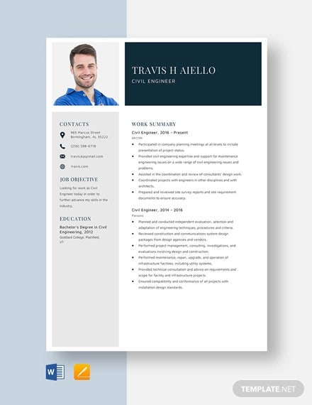 19 Civil Engineer Resume Templates Pdf Doc Free Premium Templates