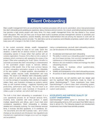 client management onboarding questionnaire