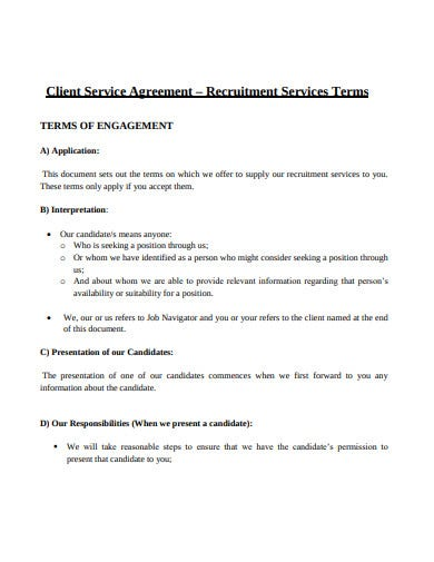 client recruitment services agreement template