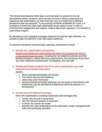 clinical trials recruitment successful plan