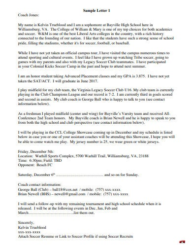 college recruiting letter template in pdf