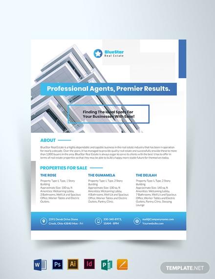 commercial realestate broker flyer template