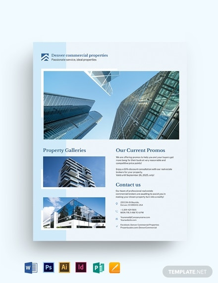 commercial realestate flyer template