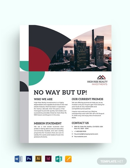 commercial realestate investor flyer templates