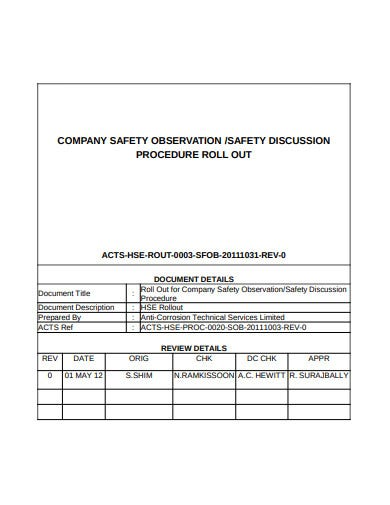 3 Job Safety Observation Form Templates In Pdf Free Premium Templates