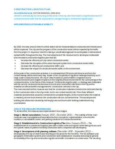 construction logistics plan in doc