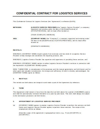 contract for logistics services template