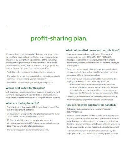 contribution profit sharing plan