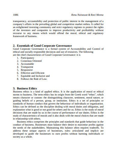 corporate governance business ethics