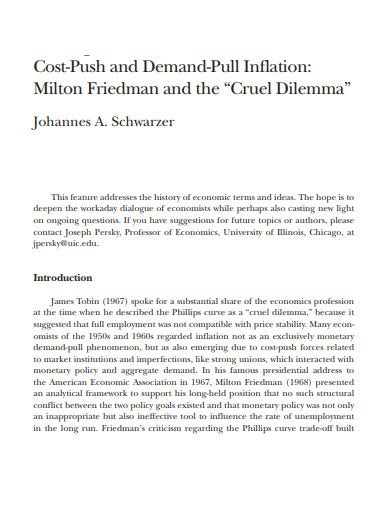 cost push inflation and demand pull inflation template