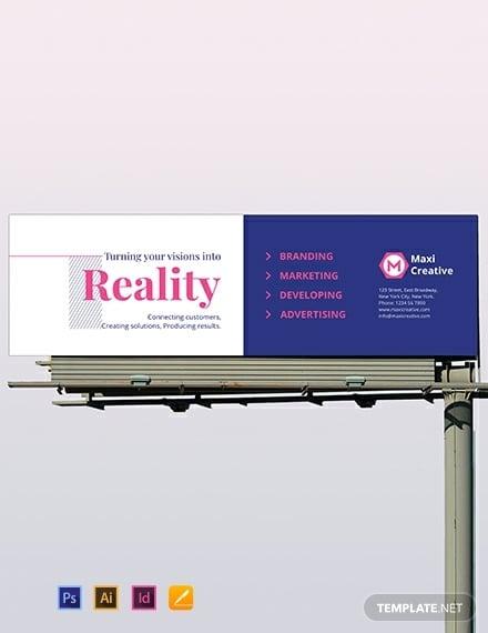creative agency billboard template