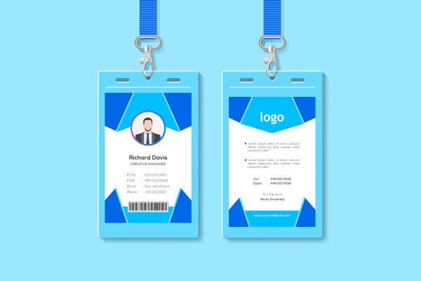 creative id card template