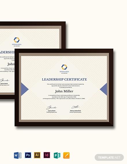 creative leadership certificate template 2