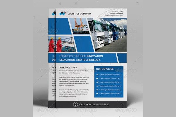 creative logistics flyer template