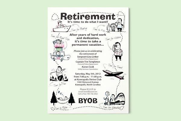creative retirement party flyer template1
