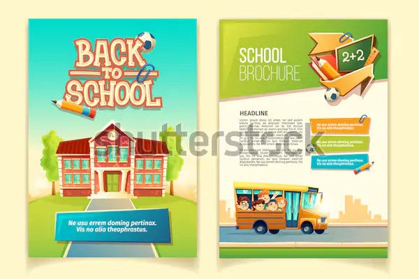 creative school advertising poster template