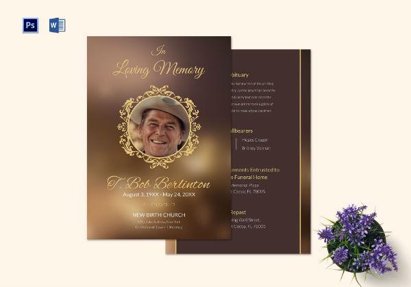 customizable funeral obituary template