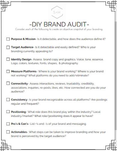 diy brand audit checklist